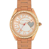 Betsey Johnson Rose Gold Bling Bling Time Watch | Dillards.com