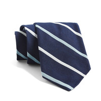 St. Marks Multi Stripe Tie In Navy