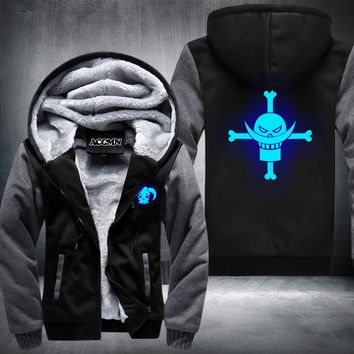 New One Piece Hoodie Monkey D Luffy Trafalgar Law Roronoa Zoro Winter Fleece Mens Sweatshirts Free Shipping USA Size