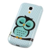 Einzige Slim Fit Flexible TPU Case for Samsung Galaxy S4 Mini i9190(Sleepy skyblue Owl)