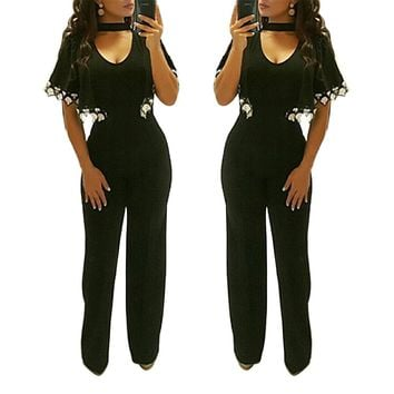 Pure Jumpsuit with Wide Cuffs