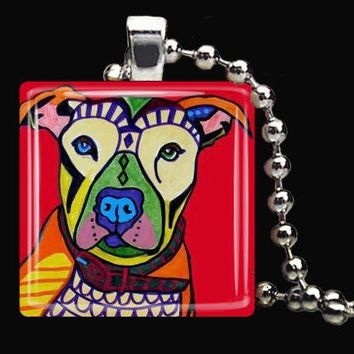 Pit Bull  Pendant Necklace by CollectArtwork on Etsy