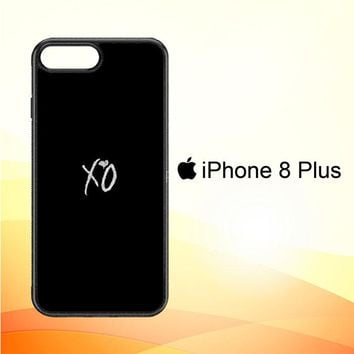 Xo The Weeknd Text Logo E0981 iPhone 8 Plus Case