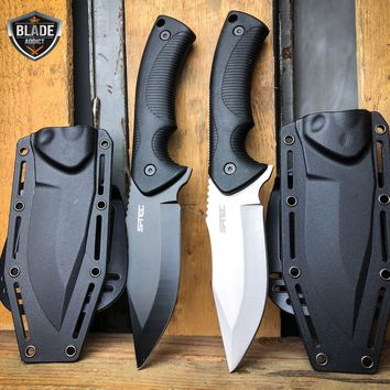 "USA SELLER USA STOCK 9"" Rambo Combat FIXED BLADE KNIFE 2 Colors SURVIVAL BOWIE w/ Kydex Sheath & Belt Clip"