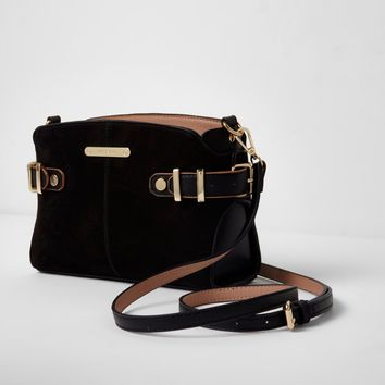 Black table buckle side cross body bag - Cross Body Bags - Bags & Purses - women