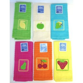 Fruit Embroidered Kitchen Towel Case Pack 72