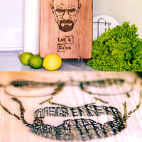 Breaking Bad Cutting Board Let's Cook Engraved Heisenberg Walter Whit. Gift for him Birthday present Housewarming gift Anniversary gifts