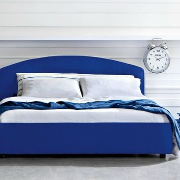 Double bed with upholstered headboard ARCO by Letti&Co. | design Paola Navone