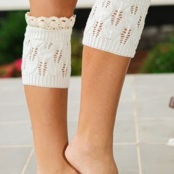 Christmas Morning Flurries Boot Cuffs-Ivory