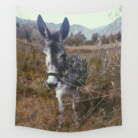 """Retro Donkey"" Wall Tapestry by Guido Montañés"