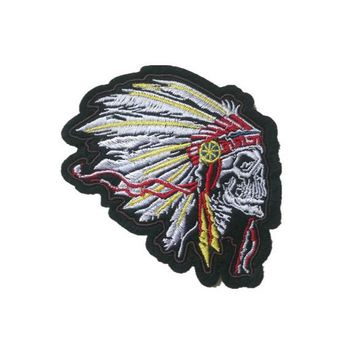 5Pcs/lot Indian Chief Skull Creative Decorative Clothing Iron on Patches Embroidery Patches Hat Coat Dress Pants Accessories