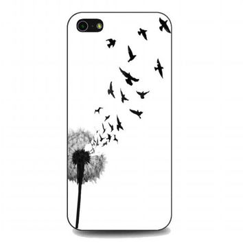 dandelion bird tattoo For iphone 5 and 5s case