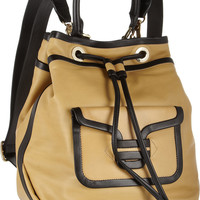 Pierre Hardy | Contrast-trimmed leather backpack | NET-A-PORTER.COM