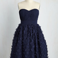 The Depth of Your Delicacy Fit and Flare Dress in Navy | Mod Retro Vintage Dresses | ModCloth.com
