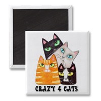 Cat Lover Fridge Magnet from Zazzle.com