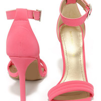 Reservation for Two Fuchsia Nubuck Single Strap Heels