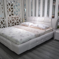 Cabecero Cama 2016 Direct Selling Special Offer King Modern No Genuine Leather Soft Bed Bedroom Furniture Minion Sofa Beds