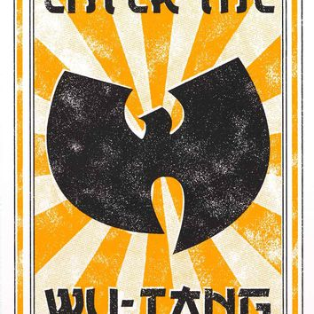 Wu-Tang Clan Enter the Wu Poster 22x34