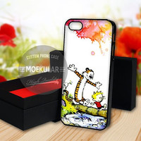 Calvin and Hobbes Watercolor case for Samsung Galaxy S3,S4,S5/Note 2,3/iPod 4th 5th/iPhone 5,5s,5c,4,4s,6,6+[ M03 ] LG Nexus/HTC One