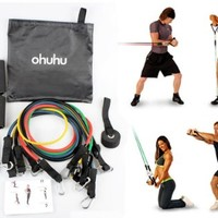 Ohuhu Resistance Band Set with Carrying Case