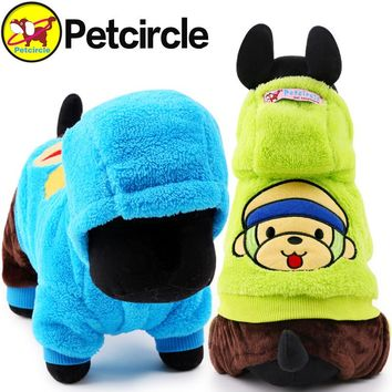 2017 petcircle hot sale autumn and spring pet dog clothes monkey dog hoodies size XXS-L dog cat clothes chihuahua free shipping