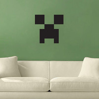 Creeper Wall Vinyl Decal From Minecraft