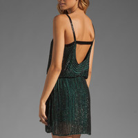 Parker Stripe Sequin Dress in Teal from REVOLVEclothing.com