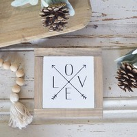 Love With Arrows Mini Sign