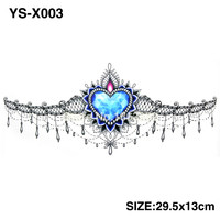 3D DIY BIG Chest Gem Tattoo Stickers Colorful Hot Flashes Waterproof Tatoo Body Art Temporary TATTOO Sticker