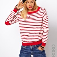 er In Stripe With Heart Elbow Patch