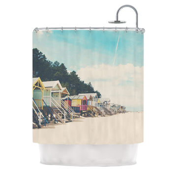 "Laura Evans ""Small Spaces"" Beach Coastal Shower Curtain"