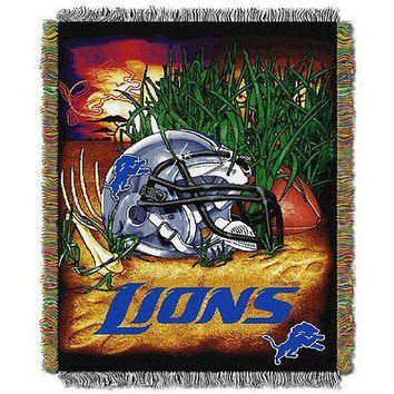 Detroit Lions Home Field Advantage 46x60 Woven Tapestry Throw FREE US SHIPPING