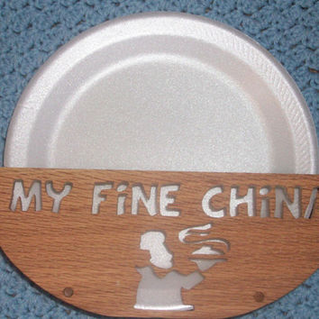Fine china paper plate holder