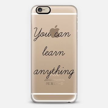 You can learn anything - Back to school iPhone 6 case by Yasmina Baggili | Casetify