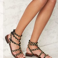 Sam Edelman Eavan Leather Gladiator Sandal - Black