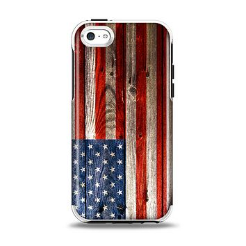 The Wooden Grungy American Flag Apple iPhone 5c Otterbox Symmetry Case Skin Set