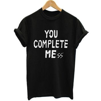 ICIKL3Z New You Complete Mess Me 5SOS Shirt Five 5 Seconds Of Summer T Shirt T-shirt Luke Hemmings women Clothing