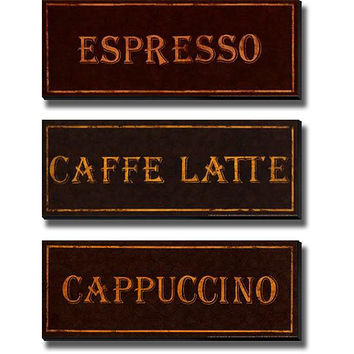 Catherine Jones 'Coffees' 3-piece Unframed Canvas Set   Overstock.com Shopping - The Best Deals on Framed Canvas