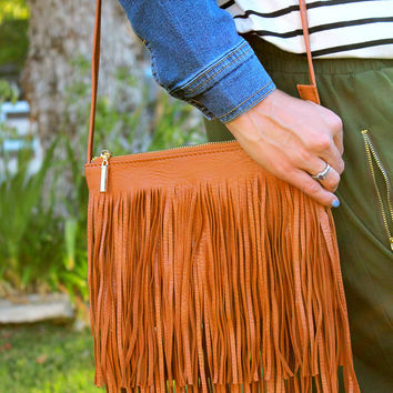 Foxy Fringe Cross-Body Bag