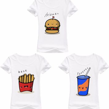 Best Friends Forever - Hamburger Chips Cola - Women's BFF T-shirt