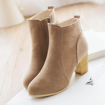 Autumn & Winter Shoes | Chunky Heeled Ankle Boots