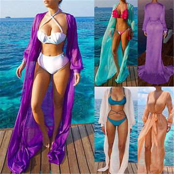 GLANE Brief Hot Newest 2017 Swimwear Women Beach Dress Cover Up Kaftan Chiffon Sarong Summer Wear Swim Bikini Summer Russia USA