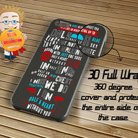 One Direction Lyric Hald a Heart Case iPhone 6 / 5c / 5/5s / 4/4s, Galaxy S6, S5, S4, S3, Xperia Z,Z1,Z2 cases