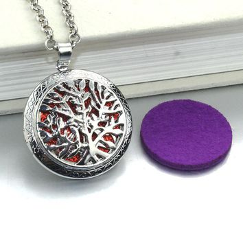 Aromatherapy Tree of Life Antique Locket Pendant
