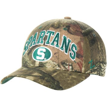 Men's Zephyr Camo Michigan State Spartans Mossy Oak Sport Team Wordmark Adjustable Hat