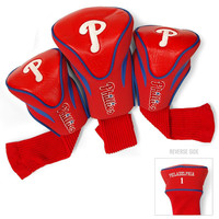 Philadelphia Phillies Golf Club 3 Piece Contour Headcover Set