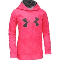 Under Armour Girls' Power In Pink Armour Fleece Storm Printed Big Logo Hoodie Dick's Sporting Goods