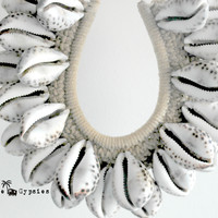 Large Spotted Shell Tribal Necklace
