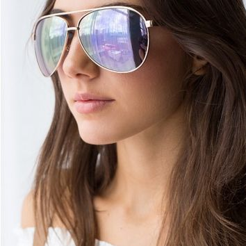 Quay Topgun Sunglasses Rose Gold
