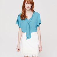 Tie Neck Flutter Top